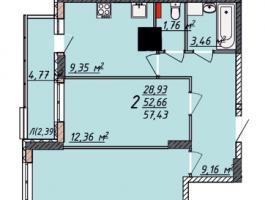 Купить двухкомнатную квартиру в новом доме